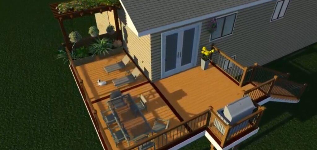 NW Pearl Custom Deck Rendering